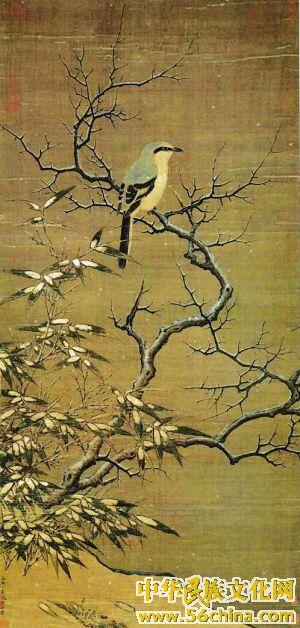 标志 天津/中国传统的花鸟画,进入两宋时期,以院体绘画为标志,达到了...